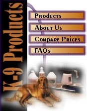 K-9 Products menu
